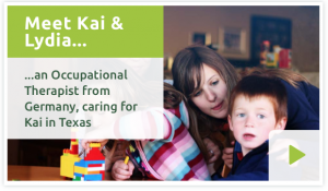 Meet Kai & Lydia - An Occupational Therapist from Germany, caring for Kai in Texas