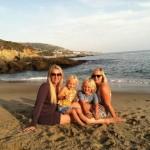 Sarah w Susan and kids on beach