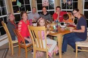 Claudia and her family with Ken Koos and Sarah Hurck